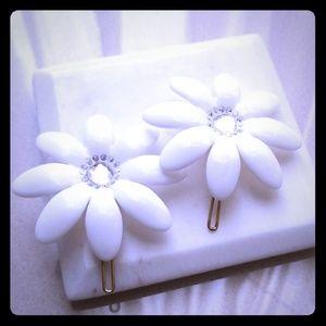 Cubits bridal barrette 2 pieces crystal